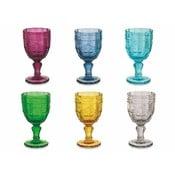 Sada 6 farebných pohárov na víno Villa d'Este Syrah, 235ml