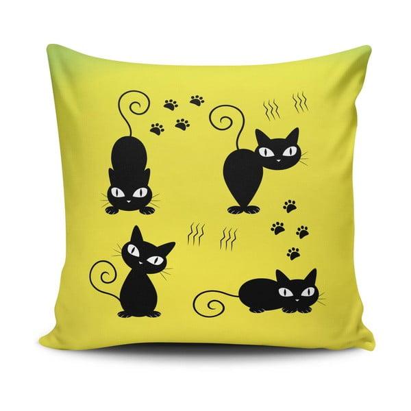 Obliečka na vankúš s prímesou bavlny Cushion Love Amarillo, 45 × 45 cm
