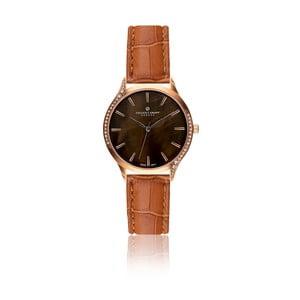Dámske hodinky s hnedým remienkom z pravej kože Frederic Graff Mullio