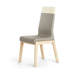 Sivá stolička z dubového dreva Absynth Kyla Two