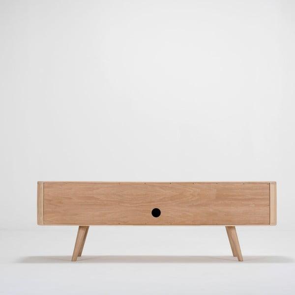 Televízny stolík z dubového dreva Ena, 135 x 55 x 45 cm