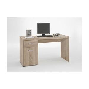 Pracovný stôl v dubovom dekore Alan