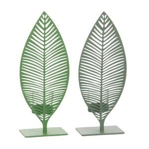 Sada 2 dekorácií J-Line Leaf, výška 29 cm