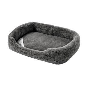 Tmavosivý peliešok pre psa z merino vlny Royal Dream, šírka 60 cm