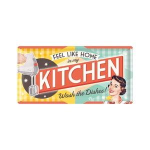 Plechová ceduľa Kitchen, 25x50 cm