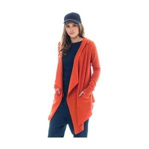Oranžový kardigán Lull Loungewear Guimar, veľ. XS