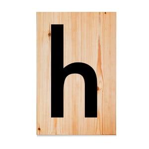 Drevená ceduľa Letters H