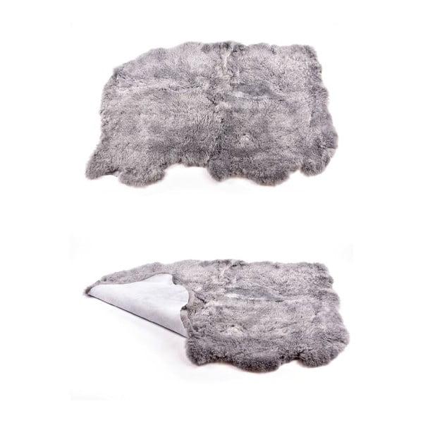 Kožušinový koberec s krátkym vlasom Grey, 165x110 cm
