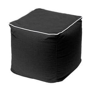Čierny puf 13Casa Bicolor Quadrato