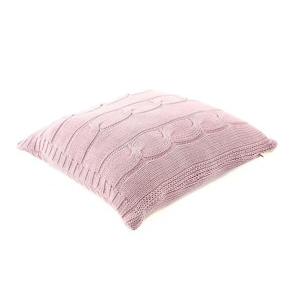 Ružová bavlnená obliečka na vankúš Buro