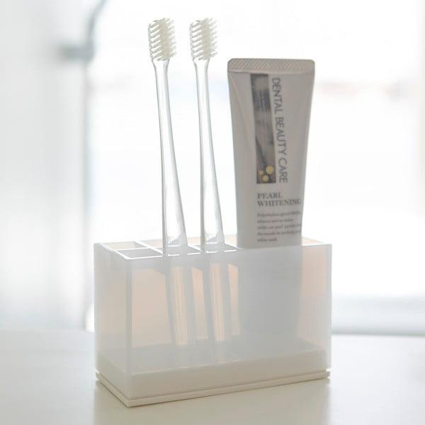 Biely stojan na zubné kefky Yamazaki Veil