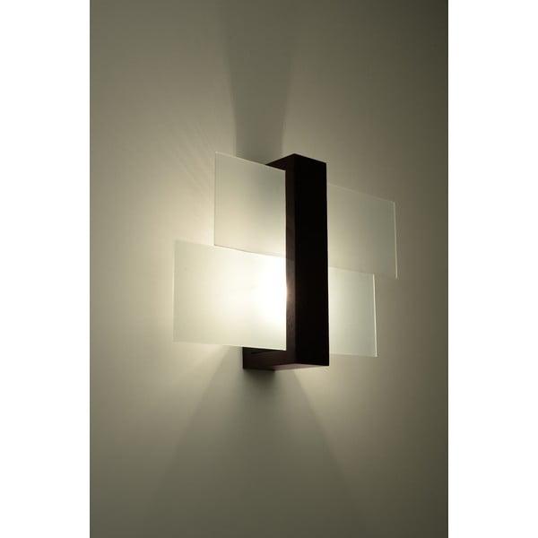 Hnedé nástenné svetlo Nice Lamps Leda