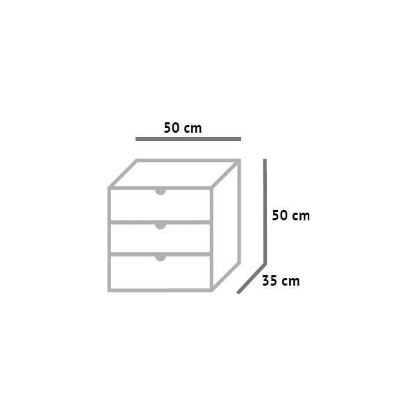 Skrinka s tromi zásuvkami Fam Fara, 50x50 cm