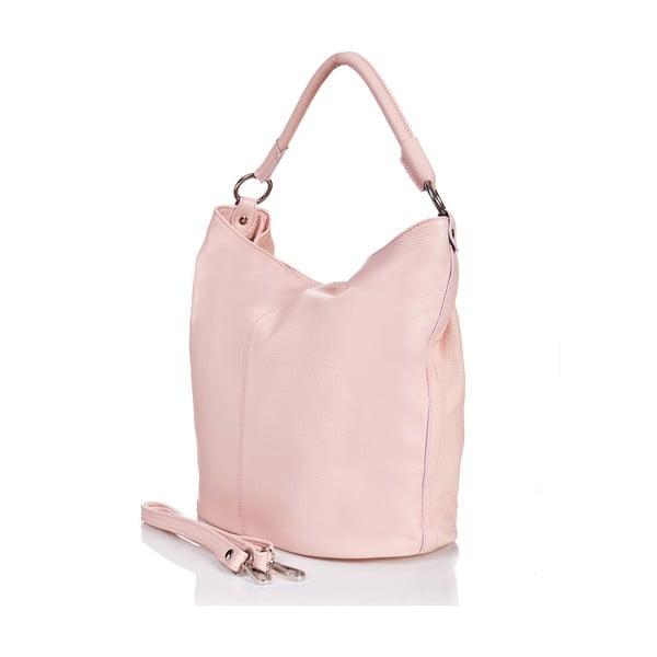 Ružová kožená kabelka Massimo Castelli Norvala