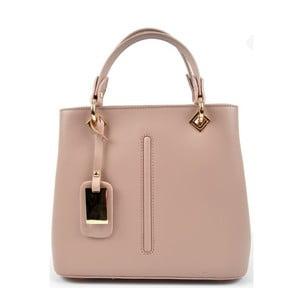 Ružovobéžová kožená kabelka Roberta M Mismono