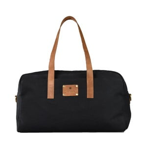 Čierna kožená taška O My Bag The Weekender