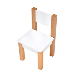 Biela detská stolička Mobi furniture Mario
