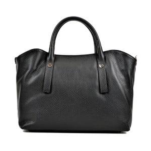 Čierna kožená kabelka Renata Corsi Smielo