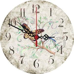 Nástenné hodiny Butterfly, 30 cm