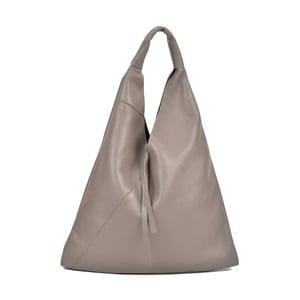 Sivá kožená kabelka Anna Luchini Penny