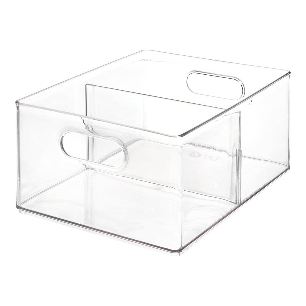 Transparentný úložný box iDesign The Home Edit, 34,2 x 25,3 x 15,2 cm
