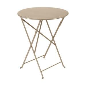 Béžový záhradný stolík Fermob Bistro, Ø60 cm