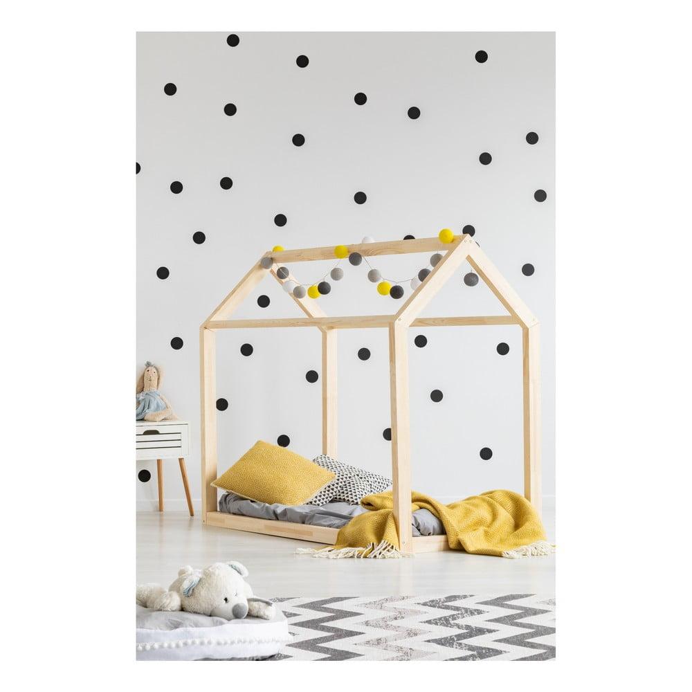 Domčeková posteľ z borovicového dreva Adeko Mila MN, 90 x 160 cm