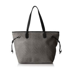 Sivá kožená kabelka Chicca Borse Girro
