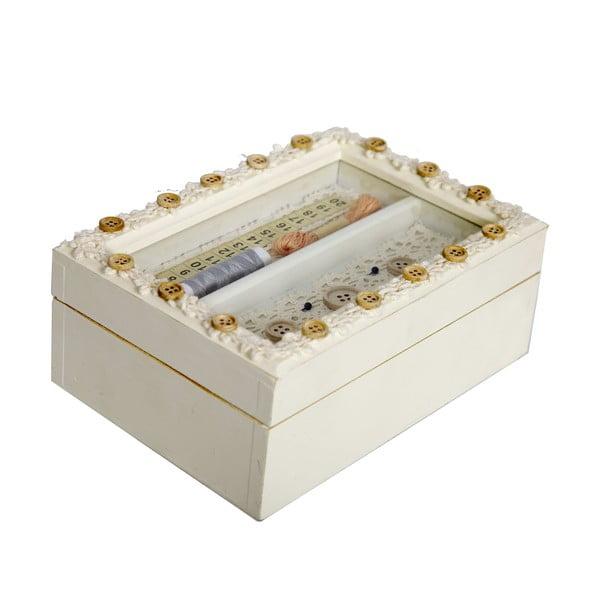 Drevená krabica na šitie Small Buttons