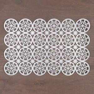 Prestieranie  v striebornej farbe InArt XMas Snowflake