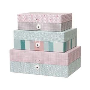 Sada 3 krabičiek Aztec Design