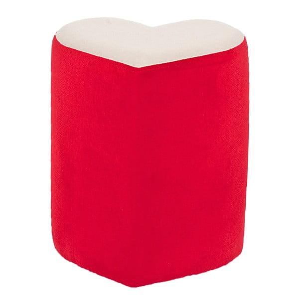 Srdcový puf Herbie,červený