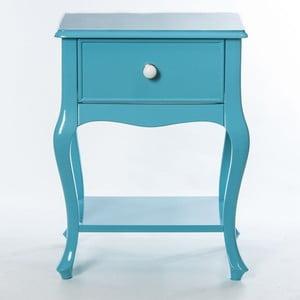 Odkladací stolík Purl Turquoise, 44x33x60 cm