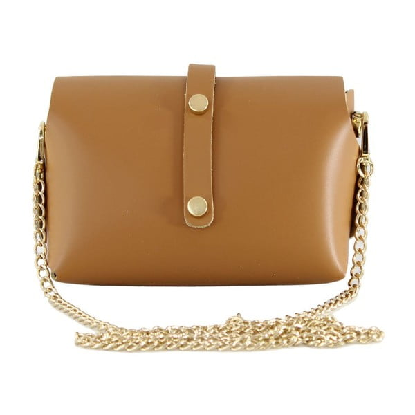 Kožená kabelka cez rameno Slaygie, hnedá