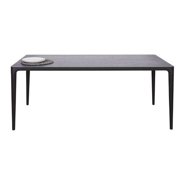 Čierny jedálenský stôl De Eekhoorn Troy, 90x180cm