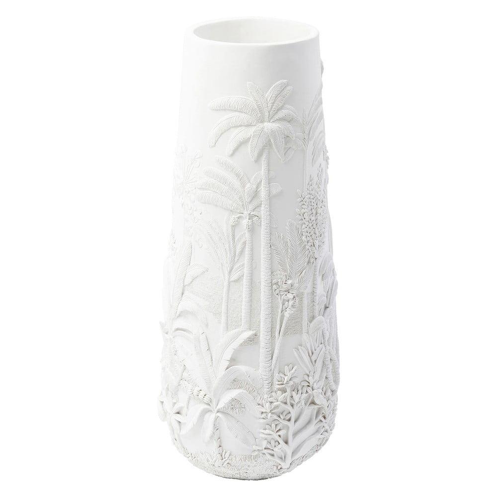 Biela váza Kare Design Jungle White, výška 83 cm