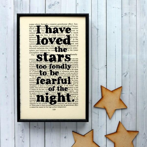 Plagát v drevenom ráme Loved the Stars Cosmos