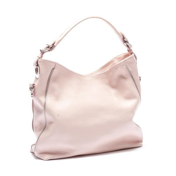 Kožená kabelka Mangotti 1139, ružová