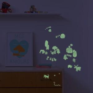 Sada v tme svietiacich samolepiek OMY Nature, 100 ks