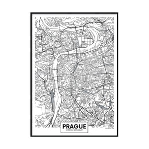Plagát DecoKing Map Prague, 100 x 70 cm