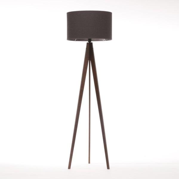 Čierna stojacia lampa 4room Artist, hnedá lakovaná breza, 150 cm