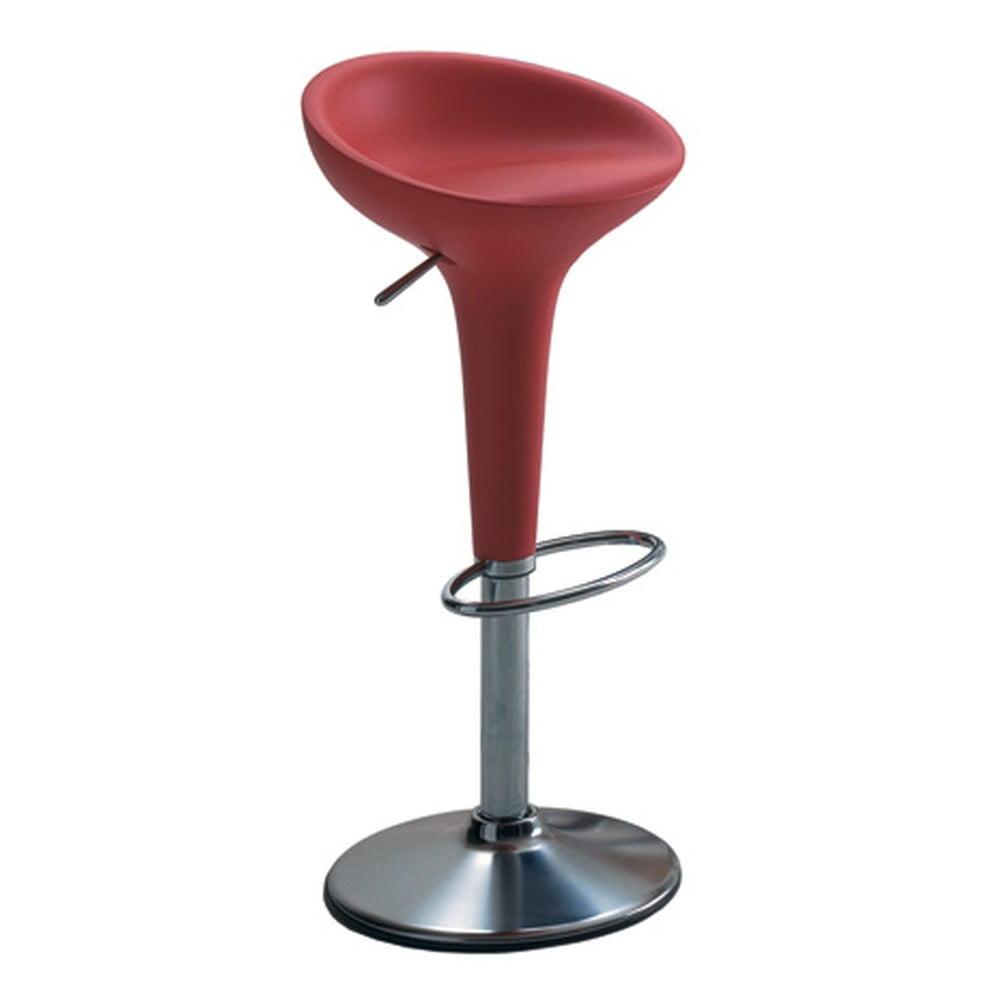 Červená barová stolička Magis Bombo, výška 50/74 cm
