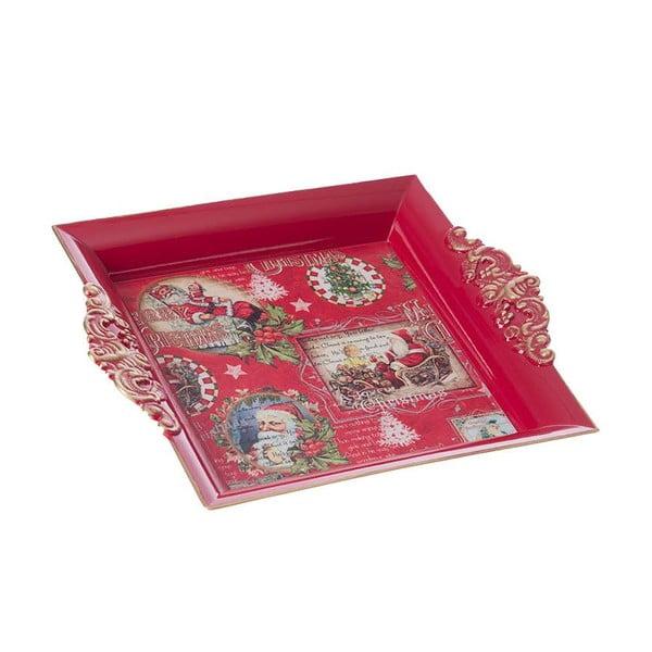 Plastová tácka Merry Xmas, 23x19 cm