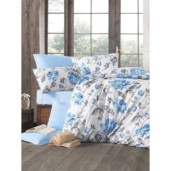 Obliečky s plachtou Flower Blue, 200x220 cm