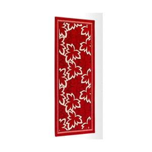 Červený vysokoodolný kuchynský koberec Webtapetti Maple Rosso, 55 x 115 cm