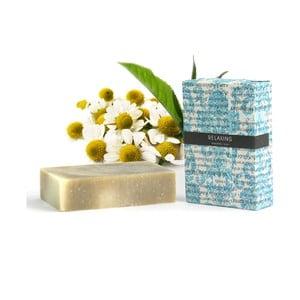 Relaxačné prírodné mydlo s vôňou harmančeka, tea tree a eukalyptu HF Living