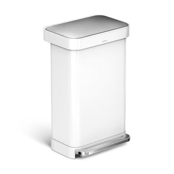 Biely odpadkový kôš simplehuman, 45 l