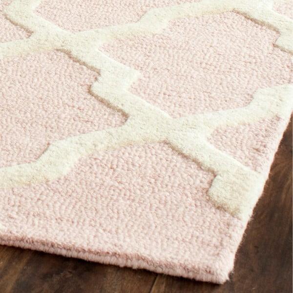 Vlnený koberec Ava Baby Pink, 152x243 cm