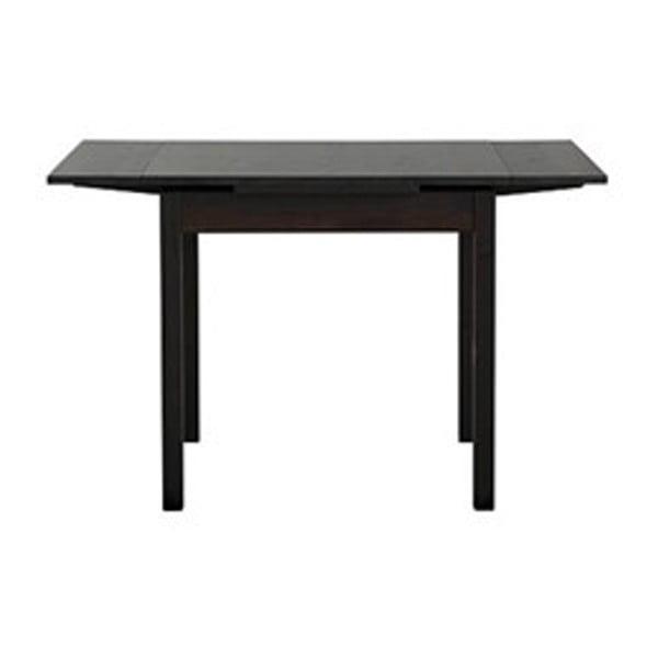 Tmavohnedý rozkladací jedálenský stôl z borovicového dreva Støraa Marlon, 80 x 80 cm