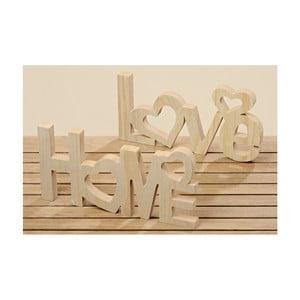 Sada 2 dekoratívnych nápisov Boltze Home, Love